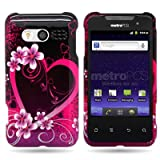 CoverON� Hard Snap-On Shield With PURPLE LOVE Design Faceplate Cover Sleeve Case For HUAWEI M920 ACTIVA 4G (METRO PCS) With TRI Removel Case Tool [WCP750] ~ CoverON�