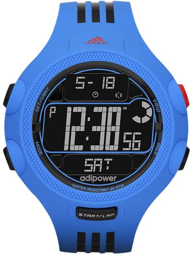 Adidas Men's Santiago ADP3122 Blue Rubber Quartz Watch with Black Dial