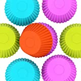 Purefly Silicone Baking Cups Cupcake Liners Muffin Cake Molds Sets, 12 Piece