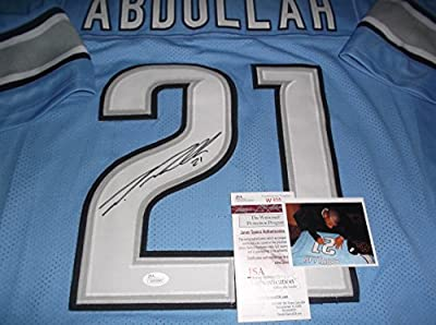 Ameer Abdullah Detroit Lions Autographed Signed Custom Blue Jersey JSA WITNESS COA
