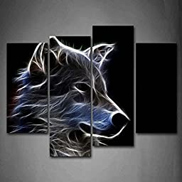 Canval prit painting Grey Wolf Pictures Print On Canvas Animal The Picture