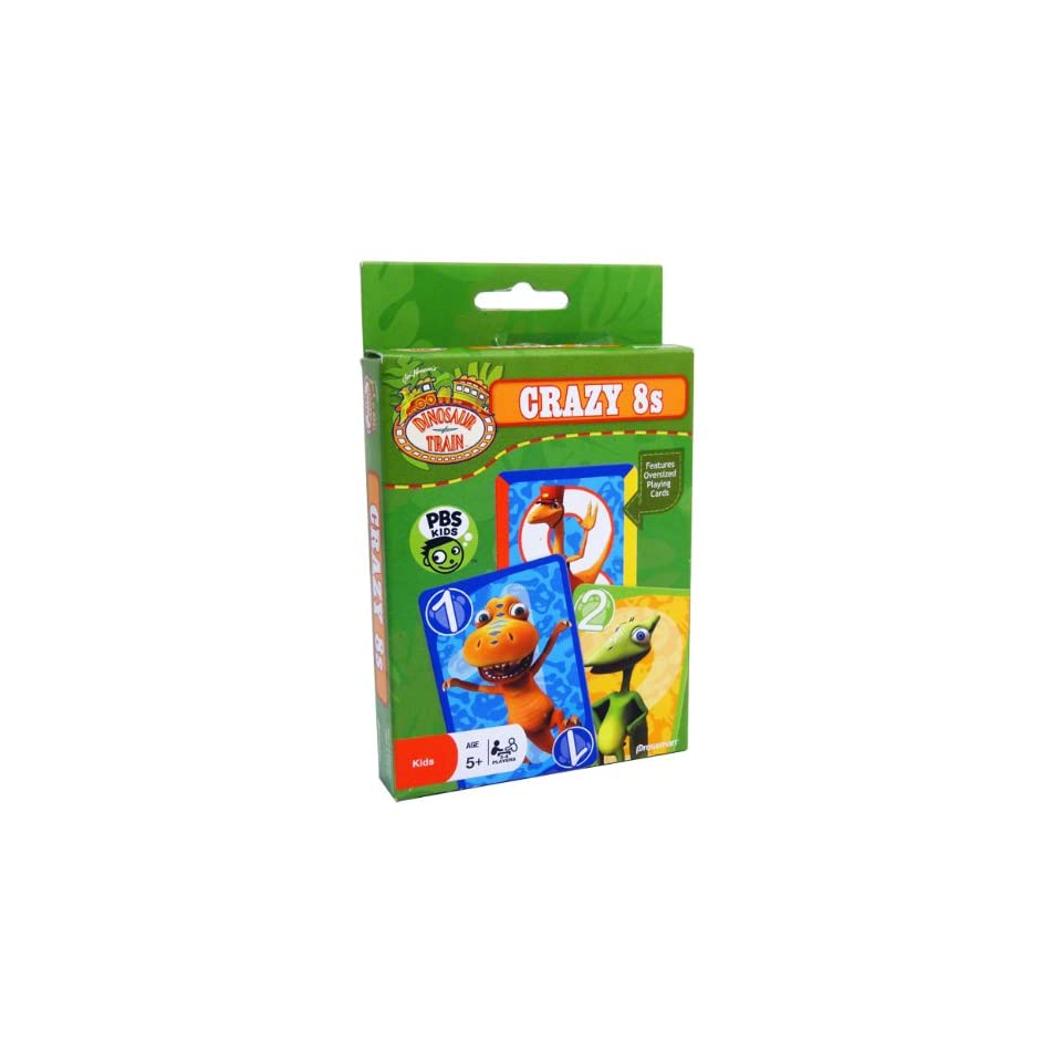 DINOSAUR TRAIN   CRAZY 8s   Features Oversized Playing Cards   PBS KIDS  AGE 5+