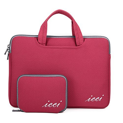 icci ShockProof Custodia Borsa con tasche accessorie Per PC portatili 35,8 cm (14 Pollici) Netbook / Laptop / Notebook Computer / Chromebook - Rosso