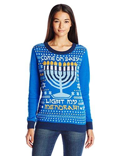 Ugly Christmas Sweater Women's Light-Up Light My Menorah