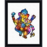 Aprilskys Workshop 8X10Elephant God Ganesha Canvas Art Print Wall Decor Home D Cor Room Deco Kids Room Girls Room...