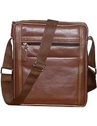 Style98 100% Genuine Leather Crossbody Messenger Tablet Bag  Handbag  Hard Disk Bag  Neck Pouch  Shoulder Bag...