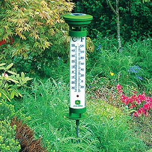 Key Enterprises John Deere 24 Inch Solar Garden Thermometer at Sears.com