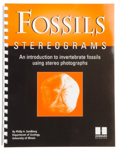"""American Educational Individual Stereogram Fossils Book, 11"""" Length X 8-1/2"""" Width"""