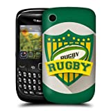 Head Case Rugby Sports Badge Back Case Cover For BlackBerry Curve 8520 9300 3G