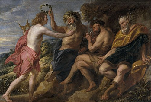 The Polyster Canvas Of Oil Painting 'Jordaens Jacob Apolo Vencedor De Pan Ca. 1637 ' ,size: 18 X 27 Inch / 46 X 68 Cm ,this High Definition Art Decorative Prints On Canvas Is Fit For Bedroom Decoration And Home Artwork And Gifts