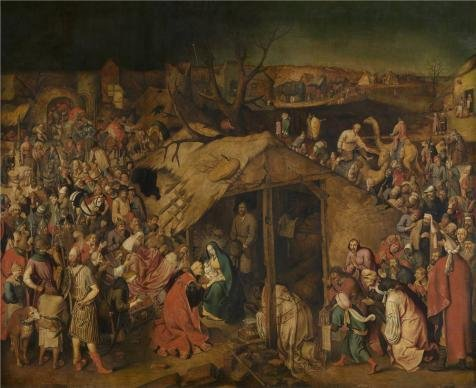 Oil Painting 'Pieter Brueghel II,The Adoration Of The Magi,1564-1636' 12 x 15 inch / 30 x 37 cm , on High Definition HD canvas prints is for Gifts And Foyer, Game Room And Kids Room Decoration, my (Sewing Machine Accesory Bible compare prices)