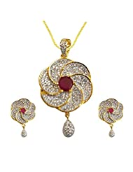Sheetal Jewellery Brass & Alloy Pendant Set For Women - B00TIH0A5Q