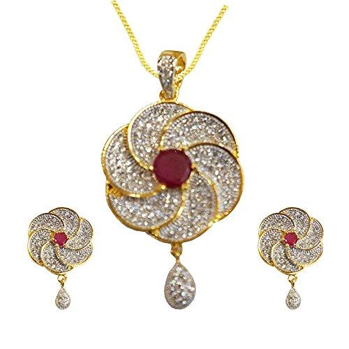 Sheetal Jewellery Brass & Alloy Pendant Set For Women - B00TIH0A5Q