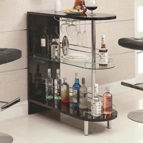 Coaster Home Furnishings 101063 Contemporary Bar Table, Black front-426319
