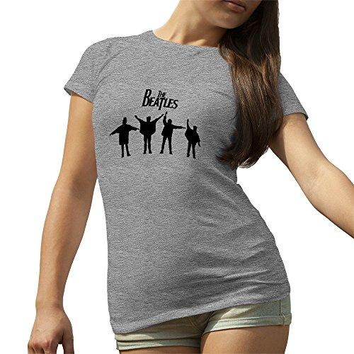 The Beatles Rock Kings 2016 Grigio T-Shirt maglietta per le donne Small