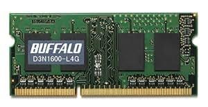 BUFFALO PC3L-12800対応 204PIN DDR3 SDRAM 4GB D3N1600-L4G