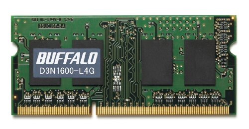 BUFFALO PC3L-12800対応 204PIN DDR3 SDRAM 4GB D3N1600-L4G