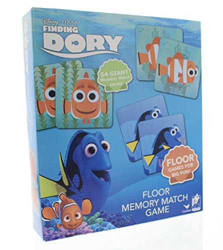 Disney Finding Dory Floor Memory Match Game - 54 Giant Memory Cards
