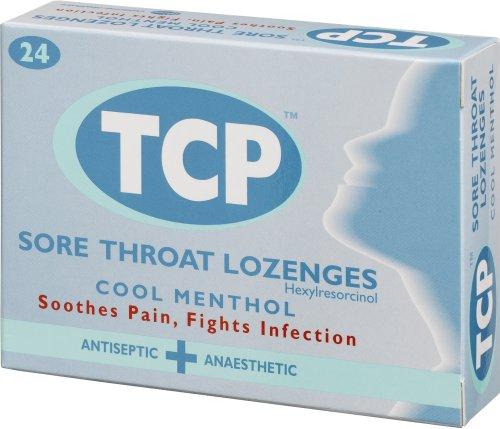 TCP Cool Menthol Sore Throat Antiseptic Lozenges - 24 Lozenges