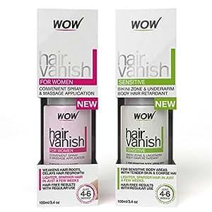 WOW Hair Vanish for Women with WOW Hair Vanish Sensitive Combo (Pack of 2)