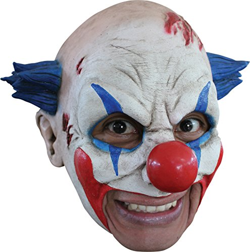 Insane Circus Clown Scary Latex Adult Halloween Costume Mask