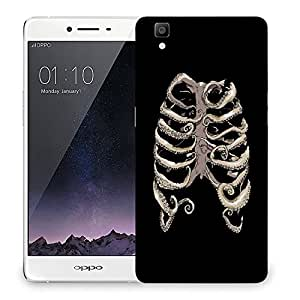 Snoogg Ribs Cage Designer Protective Back Case Cover For OPPO R7S