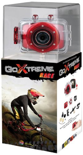 "Easypix 20101 - Videocamera GoXtreme Race, 5 Megapixel, zoom digitale 4x, touchscreen da 5 cm (2""), USB 2.0, colore: Rosso"