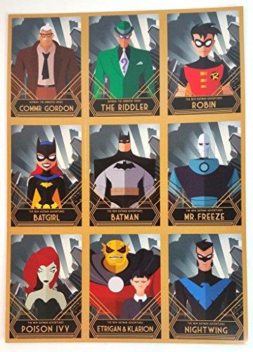 DC Comics Batman, Robin, Batgirl, Poison Ivy, NIghtwing Sheet of Cards 7.5 x 10.5 inches Comic Con 2016