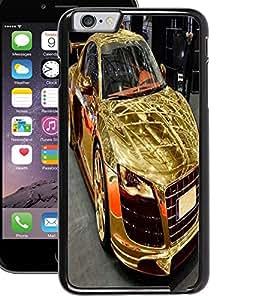 ColourCraft Golden Car Design Back Case Cover for APPLE IPHONE 6