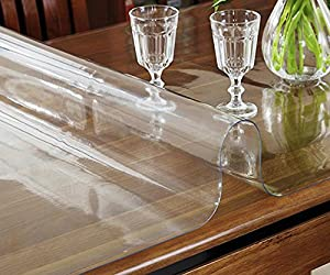 Transparent waterproof, no-clean, crystal plate , soft glass ,wallpaper ,tablecloth ,60cm×120cm/2mm from LILSN