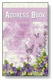Lilac Smudge Floral Address Book