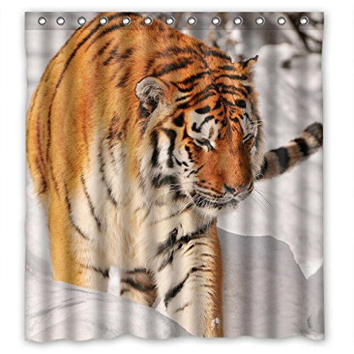 "Sale alerts for Malcolm-Fashion King of forest tiger Shower Curtain Measure 66""(w)X72""(h) - Covvet"