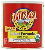 Earths Best Organic Infant Formula with Iron, DHA & ARA,  23.2 Ounce Canisters (Pack of 4)