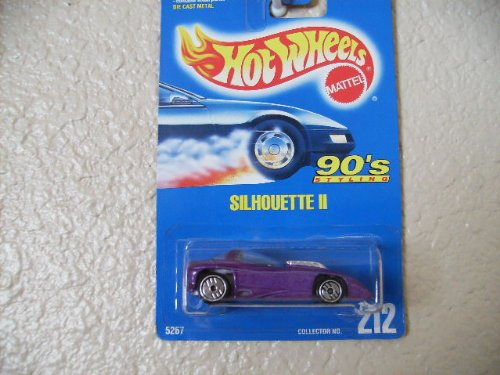 HOT Wheels Silhouette ll All Blue Card #212 Gray Base W/ultra Hots
