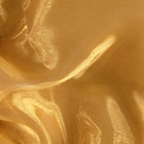 60'' Wide Mirror Organza Gold Fabric By The Yard