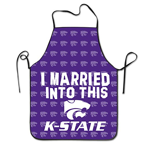 Kansas State University K-State Kansas State Wildcats Logo Kitchen Grilling Apron (Kansas State Chef Hat compare prices)