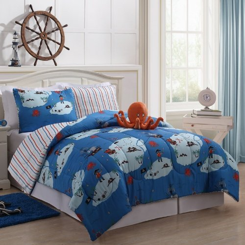 Full Size Pirates Bed In A Bag Kids Bedding Childrens Bedding Comforters Bedding front-5595