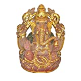 Chandni Divine Ganesha In Rose Quartz With Meena Painting - Multi-Colored