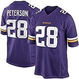 Mens Minnesota Vikings Adrian Peterson #28 Purple Team Color Game Jersey