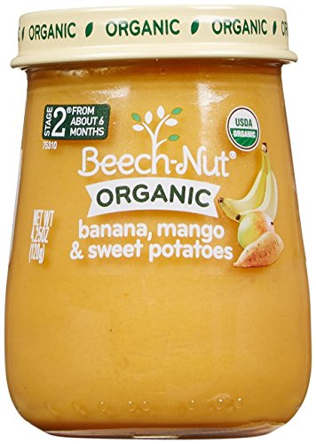 Beech-Nut Just Organic Stage 2 Purees - Banana, Mango & Sweet Potatoes - 4.25 Oz - 10 pk - 1