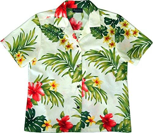6ee50f56 RJC Women's Hibiscus Tropics Hawaiian Camp Shirt - Import It All