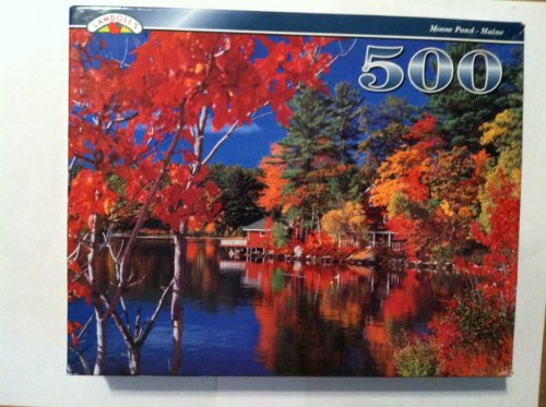 Moose Pond Maine 500 piece Puzzle - 1