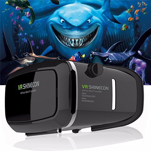 "VR Headset Glasses Virtual Reality Mobile Phone 3D Movies for iPhone 6s/6 plus/6/5s/5c/5 Samsung Galaxy s5/s6/note4/note5 and Other 4.7""-6.0"" Cellphones"