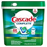 Cascade Complete Actionpacs Dishwasher Detergent, Fresh, 77 Count