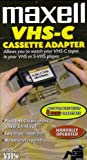 Open Box Deal-Maxell Cassette VHS-C Adapter- Allows you to watch your VHS-C tapes in your VHS player
