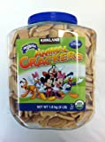 SCS Kirkland Signature Organic Disney Animal Crackers 4 Pounds Lb Tube Jar