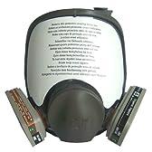3M社製 6800 全面防塵フルフェイスガスマスク (6001 ろ過フィルター付き) フィルター交換可能タイプ