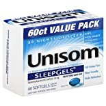 Unisom Nighttime Sleep-Aid, 50 mg, Value Pack 60 softgels