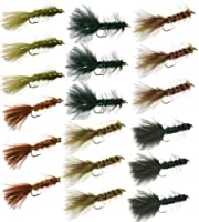 Wooly Bugger Trout Fly Fishing Flies Collection - 18 Flies from Discountflies