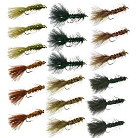 Wooly Bugger Trout Fly Fishing Flies Collection - 18 Flies